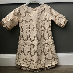 ⬇️$20 CUPCAKES & PASTRIES Gold Brocade Lace Dress